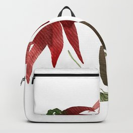 Autumn Watercolor Flowers Backpack