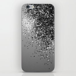 Sparkling Silver Gray Lady Glitter #1 #shiny #decor #art #society6 iPhone Skin