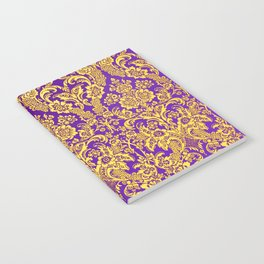 purple and golden damask Notebook