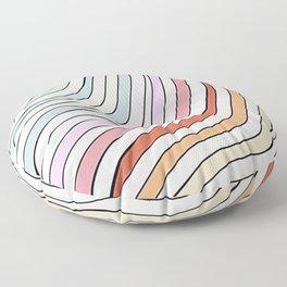 aesthetic wavy striped pattern Floor Pillow