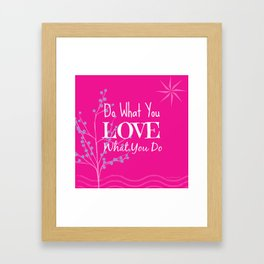 Sun Love - Pink Framed Art Print