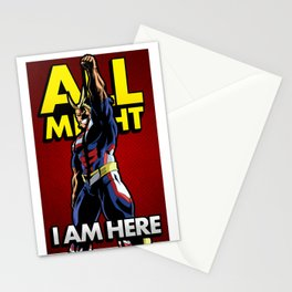 All Might Here Red Stationery Cards