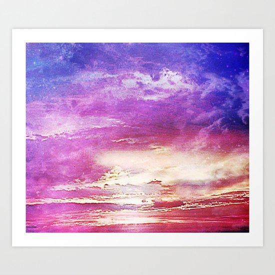 Sunset skies Art Print