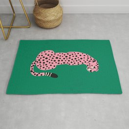 The Stare: Pink Cheetah Edition Rug