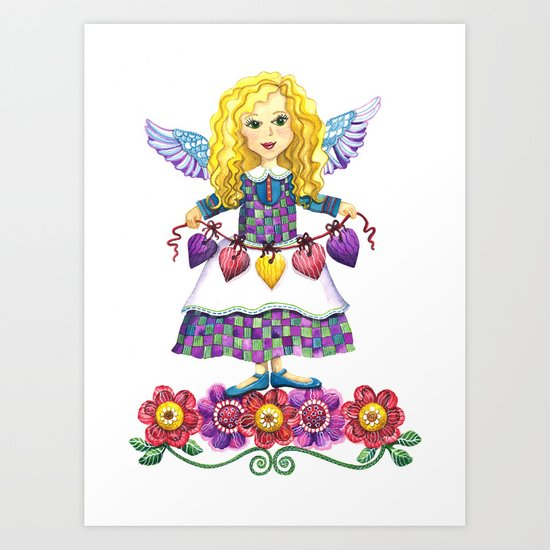 Angel Love Art Print