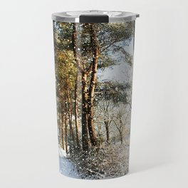 Forest Snow Scene Travel Mug