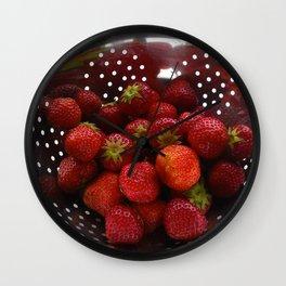 Sweet Strawberries Wall Clock