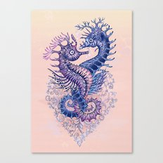 Seahorse tattoo Canvas Print