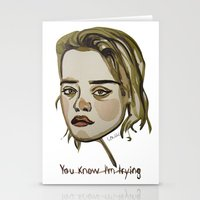 sky ferreira Stationery Cards featuring Sky Ferreira by Icillustration
