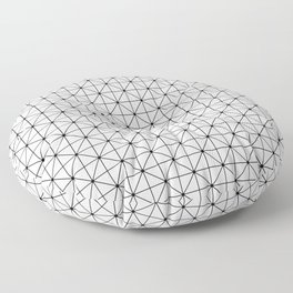 Triangulations pattern, modern geometric print Floor Pillow