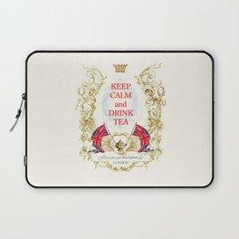 Keep calm and drink tea Laptop Sleeve
