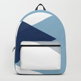 Geometrics - blues & concrete Backpack