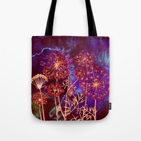 dandelions in the storm Tote Bag