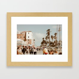 Venice Beach Boardwalk Framed Art Print