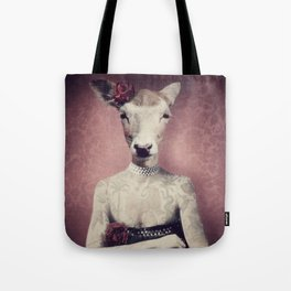Inked Dolly Tote Bag
