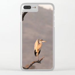 Blue Heron Clear iPhone Case
