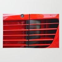 ferrari Area & Throw Rugs featuring Ferrari Testarossa by Rainer Steinke