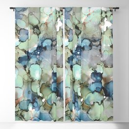 Alcohol Ink Sea Glass Blackout Curtain