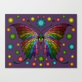 Diamond in the Sky Butterfly Canvas Print