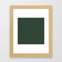 Meshed in Green Framed Art Print