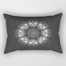 Skull Spirograph Rectangular Pillow