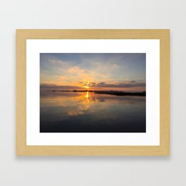 Beach House Bay View Framed Art Print