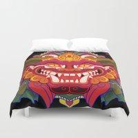 bali Duvet Covers featuring Bali Mask by Aïda de Ridder