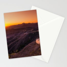 Great wall sunset Stationery Cards