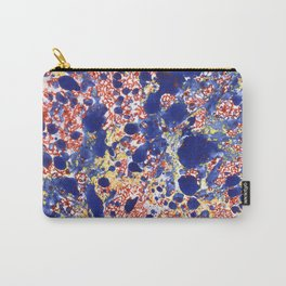 Marbling, blue, red and yelow Carry-All Pouch