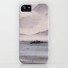 Utagawa Hiroshige - Fuji Marsh, Suruga province iPhone Case