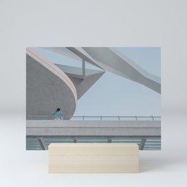 Santiago Calatrava - Minimal architecture Valencia travel photography Mini Art Print