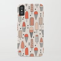 ice iPhone & iPod Cases featuring Ice Cream Season by Andrea Lauren Design