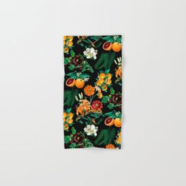 Fruit and Floral Pattern Hand & Bath Towel