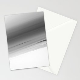 Gray Smooth Ombre Stationery Cards