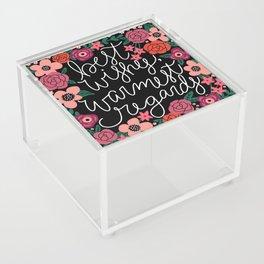 Best Wishes, Warmest Regards Acrylic Box
