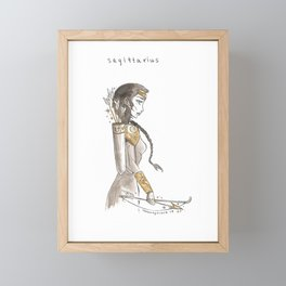 Sagittarius Framed Mini Art Print