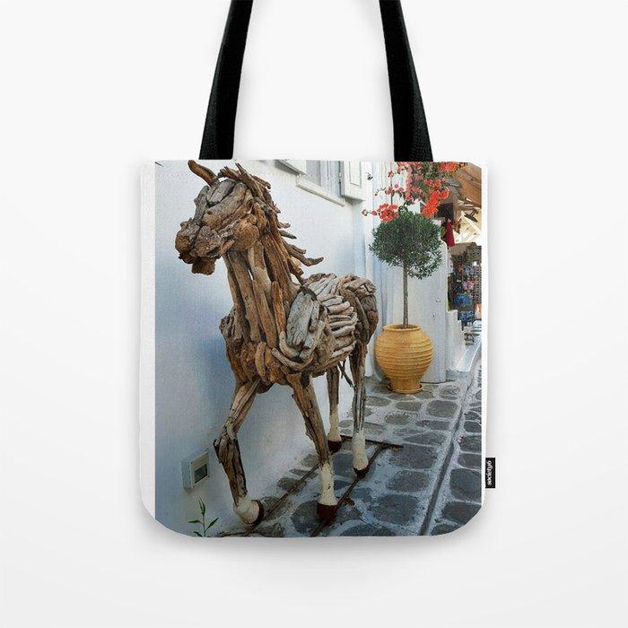 Wood horse Tote Bag