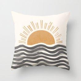 Waft Sun-Grey Throw Pillow