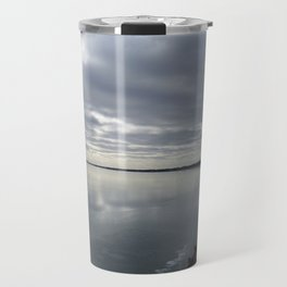 Icy Michigan Lake #3 Travel Mug