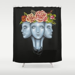Blank Faces Shower Curtain