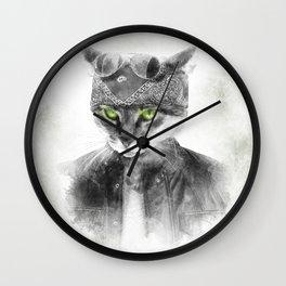 Biker Cat Wall Clock