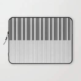 The Piano Black and White Keyboard Stripes with Vertical Stripes Laptop Sleeve