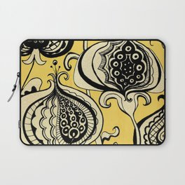 Black and Yellow Floral Laptop Sleeve