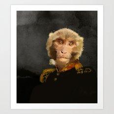 Renaissance monkey Art Print
