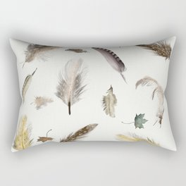 inner nature (feathers and leaves Rectangular Pillow