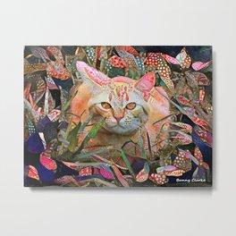 Alice's Cat Metal Print