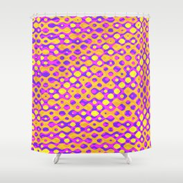 Brain Coral Pink Banded Cross Small Polyps - Coral Reef Series 029 Shower Curtain