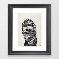 Bear Paw Framed Art Print