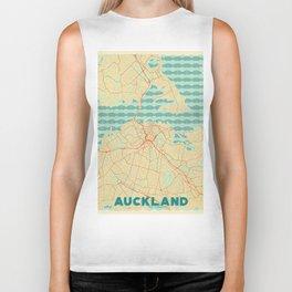 Auckland Map Retro Biker Tank