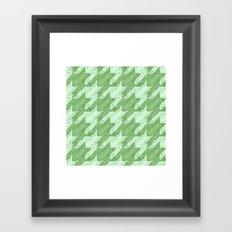 frog houndstooth Framed Art Print